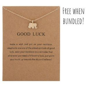 """Good Luck"" Inspirational Necklace Pendant"